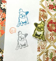 French Bulldog - Hand Carved Rubber Stamps/Doggie/Puppy/Pets/Puppies/Animals by KeiWorkshop on Etsy https://www.etsy.com/listing/270758353/french-bulldog-hand-carved-rubber