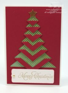 Stampin' Up! Stamping T! - Lace Folded Christmas Card