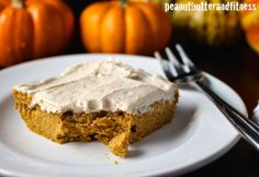 Cinnamon Pumpkin Swirl Peanut Butter Protein Blondies