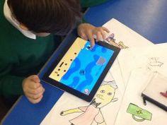 Met sketch nation teken je je eigen game en speel hem. Leuk voor PO leerlingen.