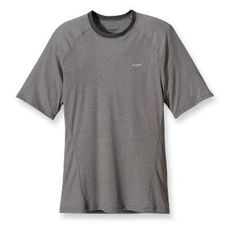 Patagonia Men's Capilene 2 Lightweight T-Shirt. I'm considering this as a base layer for climbing. I usually wear cotton t-shirts, but cotton holds too much sweat. $39.