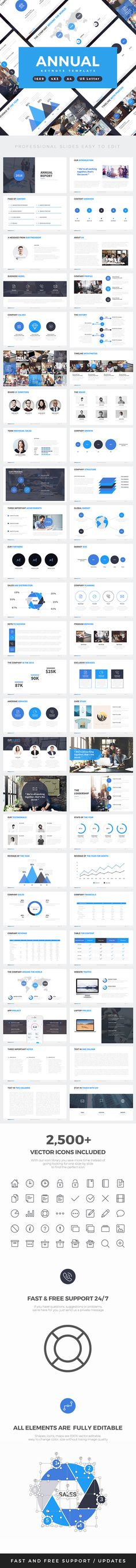 Annual Report Keynote Template — Keynote KEY #keynote template #annual report • Download ➝ https://graphicriver.net/item/annual-report-keynote-template/19402011?ref=pxcr