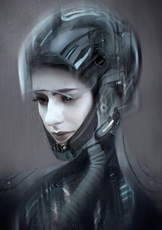 The impressive futuristic and sci-fi themed creations of Carlos Alberto Martínez, a freelance concept designer and digital artist based in Mexico. Character Concept, Character Art, Concept Art, Character Design, Cyberpunk Girl, Cyberpunk Character, Futuristic Art, Mexican Artists, Art Station