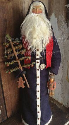 NeeSeY's WiNgS Primitive Folkart OOAK Santa Father