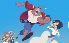 The Boy and the Beast #Kumatetsu #Kyuta #Tatara #Hyakushubo (by wrandonbu)