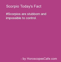 Scorpio Fun Fact https://www.facebook.com/ScorpioEvolution