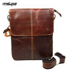 315bc8bd7455 100% Guarantee Genuine Leather Bag High quality Natural Cowskin men  messenger bags Vintage shoulder crossbody