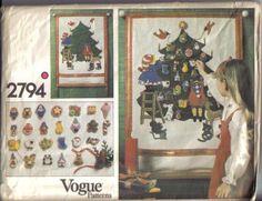 Vogue 2794 Christmas Advent Calendar and Ornaments
