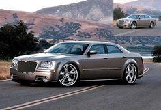 Chrysler 300 C on Foose Nitrous 20 wheels in gray.