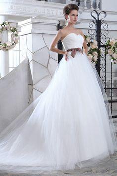 Graceful Zipper Tulle Ivory A Line Wedding Dresses  $140.69
