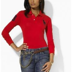 Custom-Fit manches longues Polo Rouge Polo Rouge, Polo Sale, Polo Ralph  Lauren fac52a4d019f