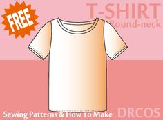 Tshirt3(Round-neck) sewing patterns & how to make