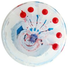 Klari Reis Exploits Science And Chemistry To Create Striking Petri Dish Paintings - Faux Red Pearls Science Chemistry, Science Art, Petri Dish, Favorite Color, Red And Blue, Artsy, Fine Art, Dishes, Create