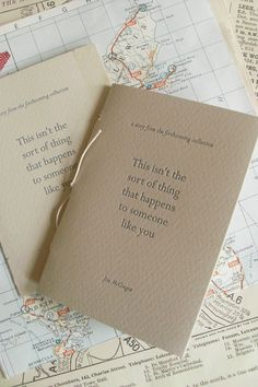 Jon McGregor chapbook | designed & bound by Éireann Lorsung