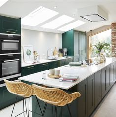 "Ping Coombes on Instagram: ""And here it is in all its glory! My new kitchen and Pings Masak Club HQ by @howdensjoinery  in @farrowandball Studio Green.  I'm so in love…"""