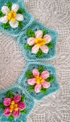 Apple Blossom Dreams: Apple Blossom Dream Afghan - Published and Listed! Granny Square Projects, Crochet Stitches, Crochet Afghans, Crochet Projects, Crochet Ideas, Crochet Blocks, Manta Crochet, Crochet Flowers, My Etsy Shop