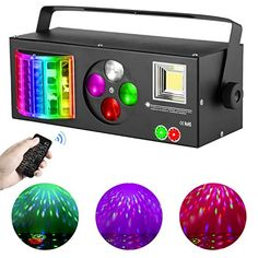 DJ Lights Sound Activated, RGBW Strobe Party Disco Lights with Remote, 4 in 1 Multi-effects Pattern Projector Lights ... Disco Lights, Party Lights, Button Up Maxi Dress, Home Dance, Bubble Machine, 4 In 1, Stage Lighting, Color Effect, Strobing