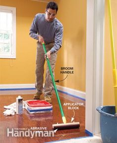 Refinish Hardwood Floors in One Day Without Sanding by Family Handyman