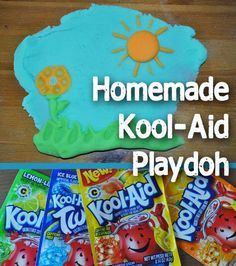 Homemade Kool-aid Playdoh. So easy and cheap!