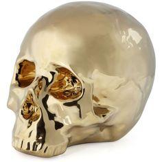 Morton Skull - Gold ($15) ❤ liked on Polyvore