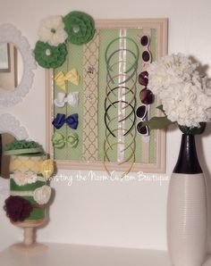 Green and white girls  Nursery toddler girls by TwistingTheNorm
