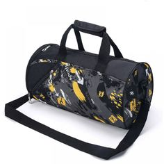 2017 New Large Cylinder Gym Bag Women Men Portable Fitness Bag Waterproof  Nylon Sport Bag Travel Training Shoulder Bags c9462b88196fd