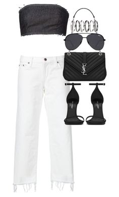 """""""Untitled #3220"""" by angieswardrobe ❤ liked on Polyvore featuring Kalmanovich, Simon Miller, Yves Saint Laurent, Quay and M.N.G"""