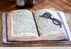 Harry Potter book cake I made!