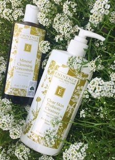 Double cleansing with Eminence Organics.