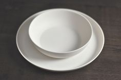 porcelain tableware white, pure, handmade, set design hande made by artdentity