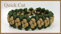 """Paracord Bracelet Tutorial: """"Boxed Trail"""" Bracelet Design Quick Cut"""