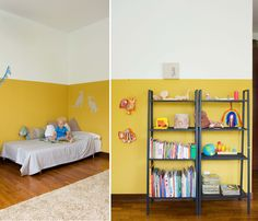 like the two toned walls
