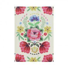 Folk floral A6 magnetic notebook