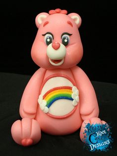 Care Bear Cake Topper Cheer Bear by KrazyKoolCakeDesigns on Etsy, $65.00