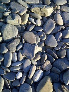 Smooth rocks on the Maine Coast