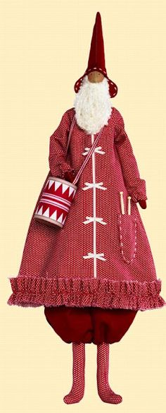 Tilda Santa Doll Love all of Tilda's work!!