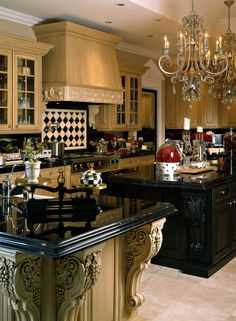 Luxury Kitchen Formal Luxury - Fisher Custom Homes Elegant Kitchens, Luxury Kitchens, Cool Kitchens, Beautiful Kitchen Designs, Beautiful Kitchens, Old World Kitchens, Kitchen Drawing, Luxury Kitchen Design, Mediterranean Home Decor