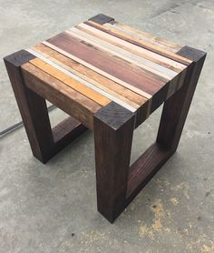 Make a DIY Scrap Wood Table! #tutorial Diy Wood Table, Reclaimed Wood Tables, Wood Table Design, Wooden Coffee Table Designs, Reclaimed Wood Projects, Recycled Wood, Wood Pallets, Repurposed Wood, Wooden Tables