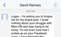 You should all know that sports writer David Luke Ramsey from The Colorado Springs Gazette has sent me an apology for his post yesterday about my mother hating me.  It seemed very sincere.