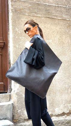 NIEUWE lederen chocolade donker bruine tas / hoge kwaliteit Tote asymmetrische grote zak door AAKASHA A14176