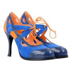 Cute Neon heels from Noh Nee by Hiegl, Munich #dirndl #fashion #neon #shoes #heels