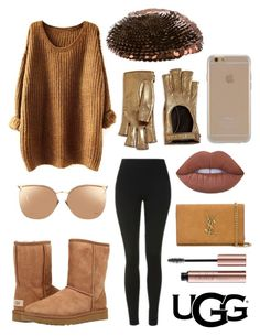 """The Icon Perfected: UGG Classic II Contest Entry"" by bia-melo ❤ liked on Polyvore featuring UGG Australia, Topshop, Linda Farrow, Gucci, Marc Jacobs, Lime Crime, Agent 18, Yves Saint Laurent, ugg and contestentry"