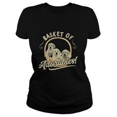 Basket Of Adorables Golden Retriever Dog TShirt