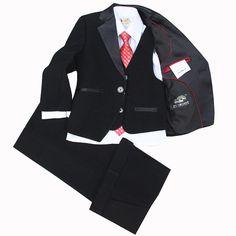==> [Free Shipping] Buy Best (JacketsVestPantsTieCravat) Boy Suits Flower girl Slim Fit Tuxedo Brand Fashion Bridegroon Dress Wedding Red Suit Blazer 5 Online with LOWEST Price | 32700392036