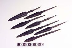 Viking period forged iron arrowheads from Gällivare, Lappland, Sweden.