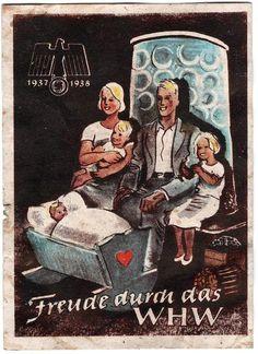 "Nazi Germany - WHW Propaganda Winterhilfswerk ""Winter Relief"" 1938"