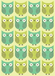 Making a card this shape of an owl would be pretty simple and cute.