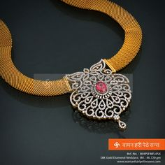 Shine brighter with this dazzling #gold #diamond #necklace from our collection.