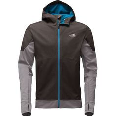The North Face Men's Kilowatt Jacket charges your runs whether you're tackling trails or sprinting down sidewalks. With a water-resistant hood and structured shoulders, the Kilowatt is an excellent companion when the weather gets a little rainy. The North Face placed brushed fleece panels at the sleeves, cuffs, and hem to ensure warmth in the colder seasons. This jacket also features thumbholes to keep your sleeves from riding up and a media port in one of the zippered hand pockets for…
