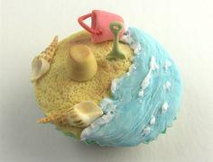 Seashore cupcake